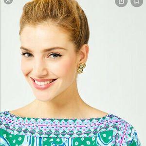 Lily Pulitzer Cheetah Earrings